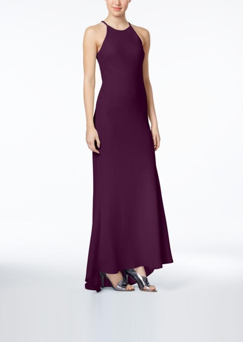 Sale Calvin Klein Calvin Klein Crepe Halter Gown