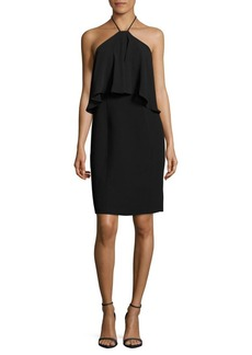 Calvin Klein Crepe Halterneck Dress