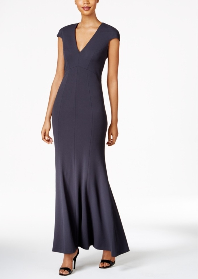 Calvin Klein Crepe Mermaid Gown