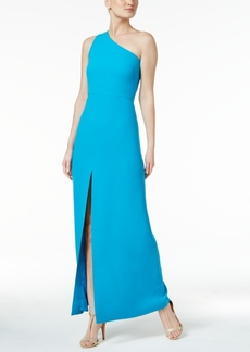 Calvin Klein Crepe One-Shoulder Gown