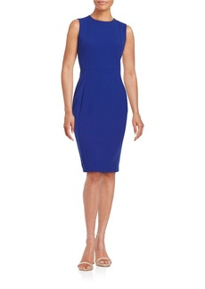 CALVIN KLEIN Crepe Sheath Dress