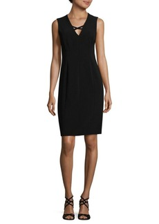 Calvin Klein Crepe V-Neck Dress