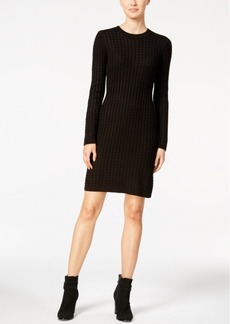 Calvin Klein Crew-Neck Cable-Knit Sweater Dress
