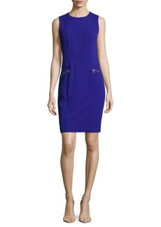 Calvin Klein Crewneck Sheath Dress