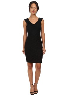 Calvin Klein Crisscross-Pleat Bodycon Cocktail Dress