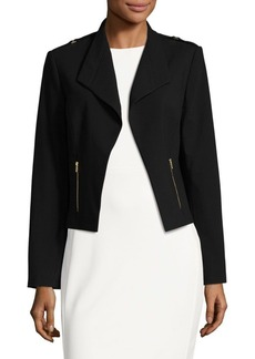 Calvin Klein Cropped Open-Front Jacket