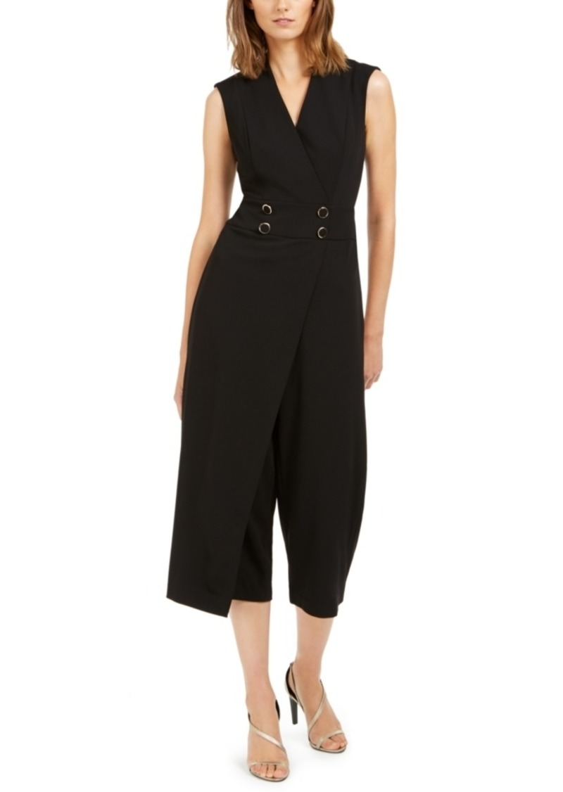 Calvin Klein Cropped Overlay Jumpsuit