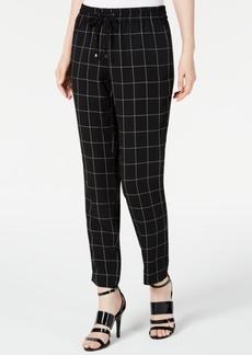 Calvin Klein Cropped Windowpane-Print Pants