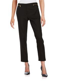 CALVIN KLEIN Cropped Zip-Accent Pants