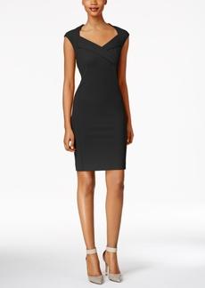 Calvin Klein Cross-Front Sheath Dress