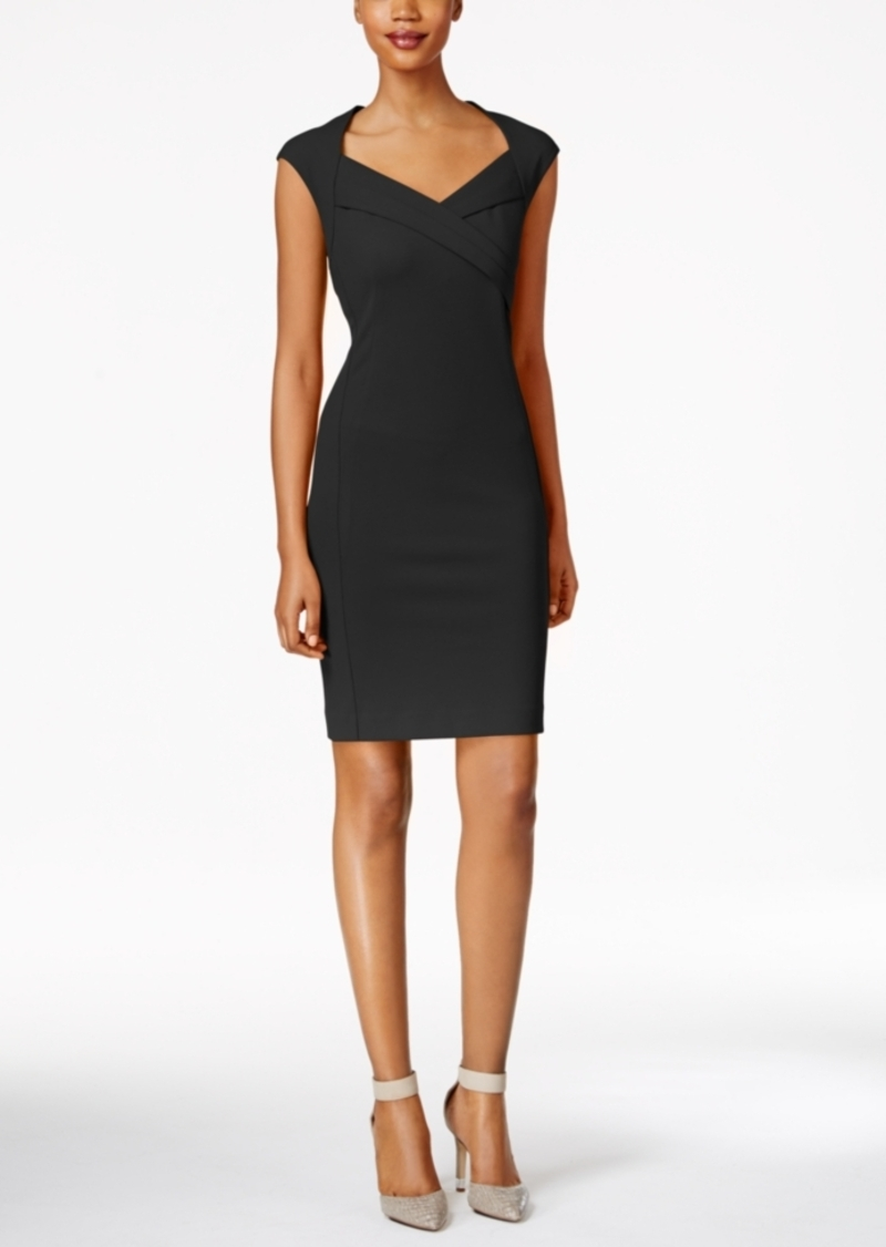 Calvin Klein Cross-Front Sheath Dress