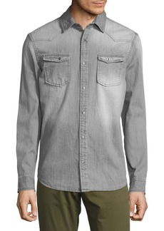 Calvin Klein Cross Hatch Cotton Button-Down Shirt