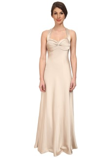 Calvin Klein Crossback Satin Gown CD5B1852