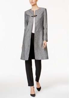 Calvin Klein Crosshatch Buckle-Trim Topper Jacket