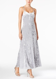 Calvin Klein Crushed Velvet Maxi Dress