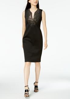 Calvin Klein Crystal-Embellished Sheath Dress