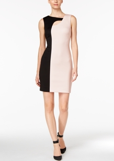Calvin Klein Cutout Colorblocked Sheath Dress