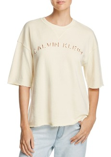 Calvin Klein Cutout Logo Sweatshirt