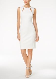 Calvin Klein Cutout Scuba Sheath Dress
