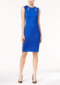 Calvin Klein Cutout Scuba Sheath Dress