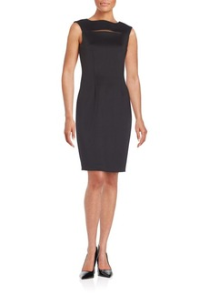 Calvin Klein Cutout Slit Sheath Dress