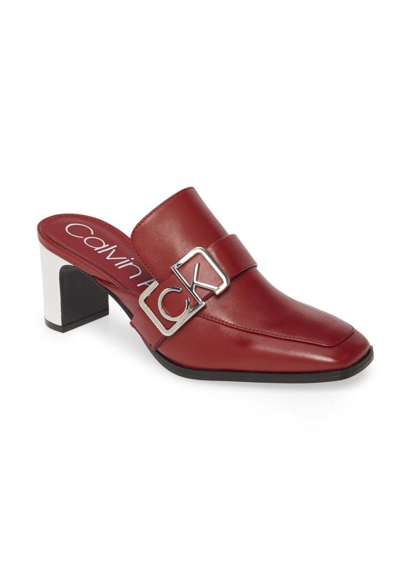 Calvin Klein Dacy Logo Buckle Loafer Mule (Women)