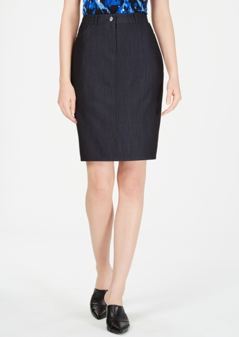 Calvin Klein Denim Belt-Looped Skirt