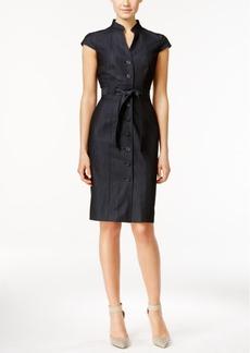 Calvin Klein Denim Belted Shirtdress