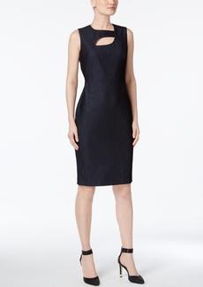 Calvin Klein Denim Cutout Sheath Dress