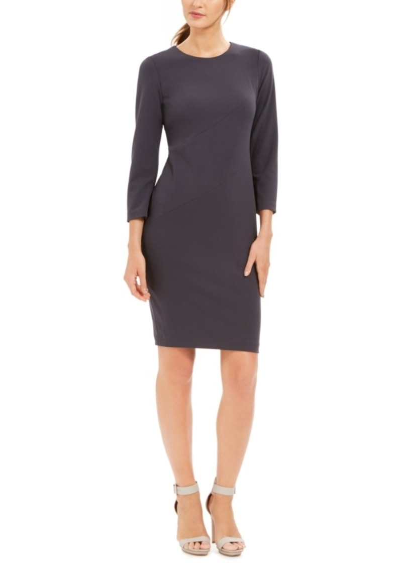 Calvin Klein Diagonal-Seam Sheath Dress