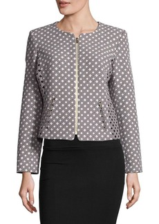 Calvin Klein Diamond-Patterned Zip-Front Jacket