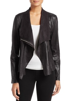 Calvin Klein Distressed Draped Lapel Jacket