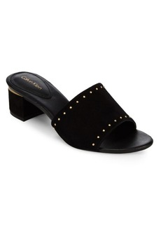 Calvin Klein Dixie Leather Slide Sandals