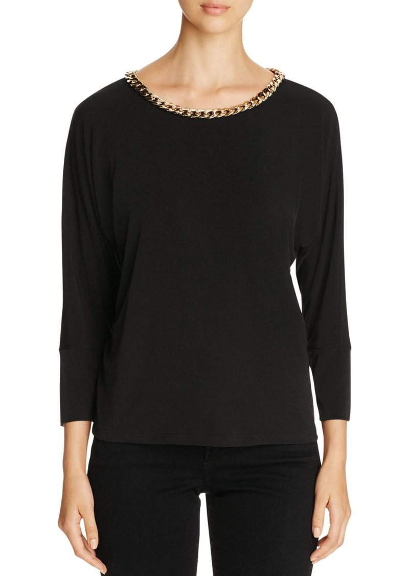 Calvin Klein Dolman-Sleeve Chain Top