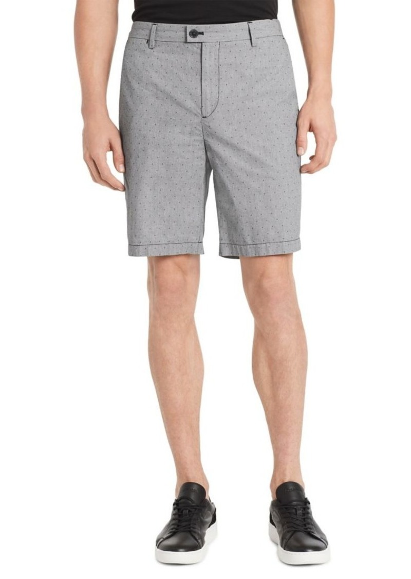 Calvin Klein Classic-Fit Flat-Front Dobby Shorts