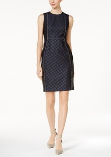 Calvin Klein Dotted Denim Sheath Dress
