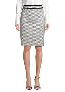 Calvin Klein Dotted Piped Pencil Skirt