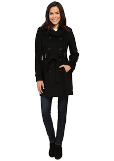Calvin Klein Double-Breasted Belted Wool Coat