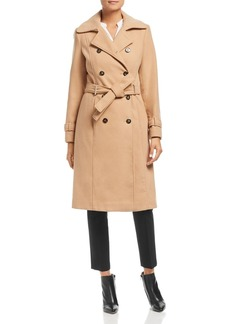 Calvin Klein Double-Breasted Front Belted Coat