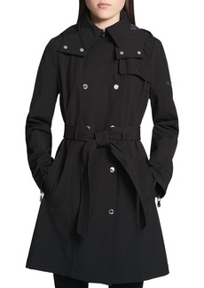 Calvin Klein Double-Breasted Snap Front Trench Coat