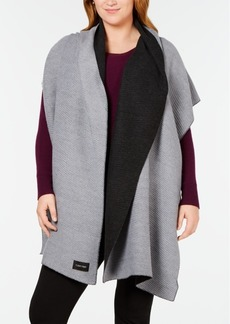 Calvin Klein Double-Faced Pleated Blanket Scarf