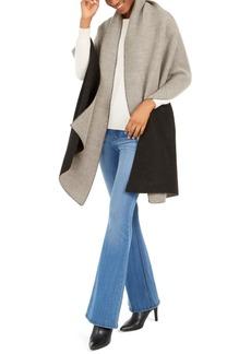 Calvin Klein Double Faced Pleated Blanket Scarf