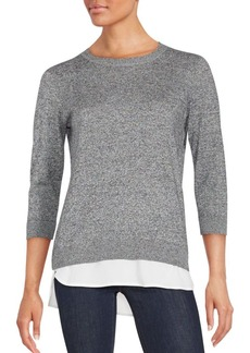 Calvin Klein Double-Layered Woven Sweater