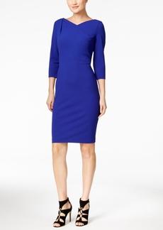 Calvin Klein Drape-Neck Sheath Dress