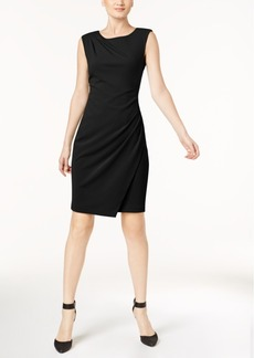 Calvin Klein Draped Boat-Neck Sheath Dress, Regular & Petite