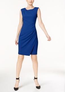 Calvin Klein Draped Boat-Neck Sheath Dress, Regular & Petite