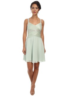 Calvin Klein Draped Chiffon Dress with Beaded Strap CD5B1861