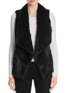 Calvin Klein Draped Faux Fur Vest
