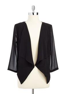 Calvin Klein Draped Open-Front Jacket