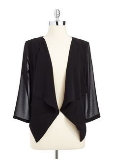 Calvin Klein Draped Open-Front Jacket